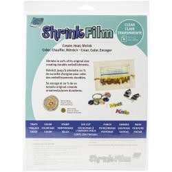 Clear - Shrink Film by Grafix 6  pc 8.5 x 11 Sheet Pack